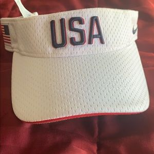 White usa nike visor